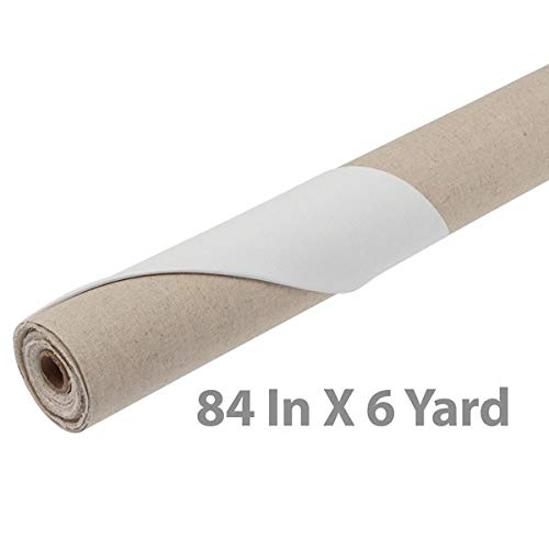 Centurion Acrylic Primed Linen Roll 84'' x 6 Yards by Centurion