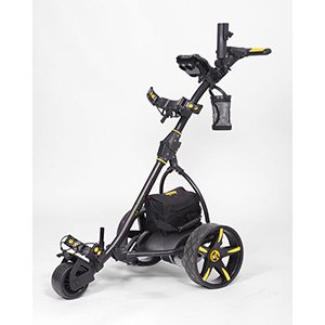 Bat-Caddy X3 Electric Push Cart w/ Free Accessory Kit, Black, 35Ah SLA -