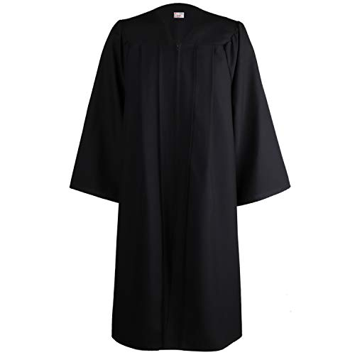 OSBO GradSeason Unisex Matte Robes for Graduation Gown, Choir Robes, Pulpit Robe and Pastor Black ()