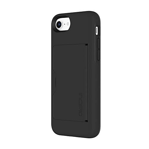 Incipio Apple iPhone 7/8 Stowaway Advanced Credit Card Hard Shell Case with Silicone Core - Black/Black from Incipio