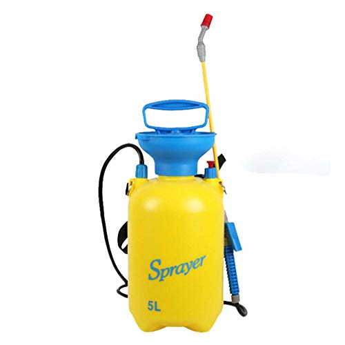 5L/3L Lawn and Garden Pump Pressure Sprayer - Shoulder Sprayer Small Watering Can Gardening Watering Flower Spray Bottle with Shoulder Strap for Herbicides Fertilizers Watering ()
