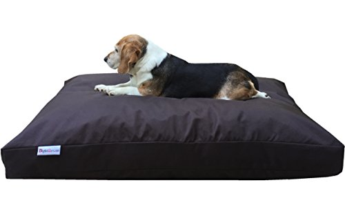 Dogbed4less Large Memory Foam Dog Bed Pillow with Orthopedic Comfort, Waterproof Liner and Heavy Duty 1680 Nylon Cover 41X27 Inches, Seal Brown