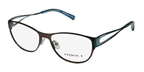 [Koali 7258k Womens/Ladies Ophthalmic European Style Designer Full-rim Eyeglasses/Glasses (53-16-135, Brown / Teal /] (Makers Mark Costume)