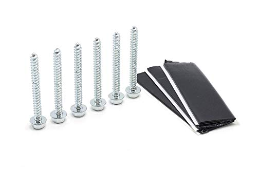 THE CIMPLE CO - Pitch Pad Kit - Zinc - Grade 5 Steel Lag Bolts (6) and Mastic Pads (3) for Roof Antennas, TV Mounts, Tripods, and Satellite Dish -