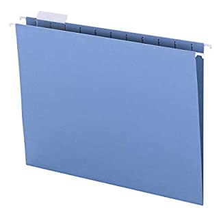 Smead Colored Hanging File Folder with Tab, 1/5-Cut Adjustable Tab, Letter Size, Blue, 25 per Box (64060) (B00006IF4H)   Amazon price tracker / tracking, Amazon price history charts, Amazon price watches, Amazon price drop alerts
