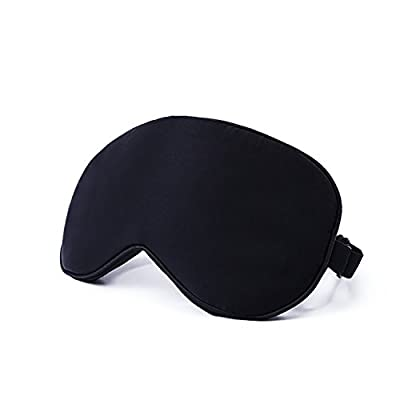 Latest Natural Silk Sleep Mask & Blindfold - Lifetime Guarantee - Super Smooth Eye Mask for Men & Women & Kids - Your Best Travel Sleeping Helper - Include FREE Ear Plugs