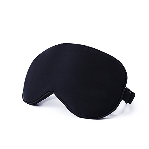 Natural Silk Sleep Mask & Blindfold - Lifetime Guarantee - Super Smooth Eye Mask for Men & Women & Kids - Your Best Travel Sleeping Helper - Include FREE Ear Plugs by Babo Care