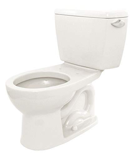 1.6 Cotton Flush Gallon - Two Piece Tank Toilet, 1.6 Gallons per Flush, Cotton