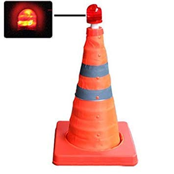 Uniqus Lift Road Safety Road Cones with Warning Dome, Height  44cm