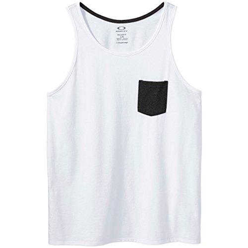 Oakley Men's Pocket Tank Top, White, - Top Oakley