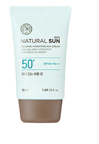 The Face Shop Natural Sun Eco No Shine Hydrating Sun Cream SPF50+ PA+++ 1.69 fl. oz. (Best Face Primer For Combination Skin 2019)