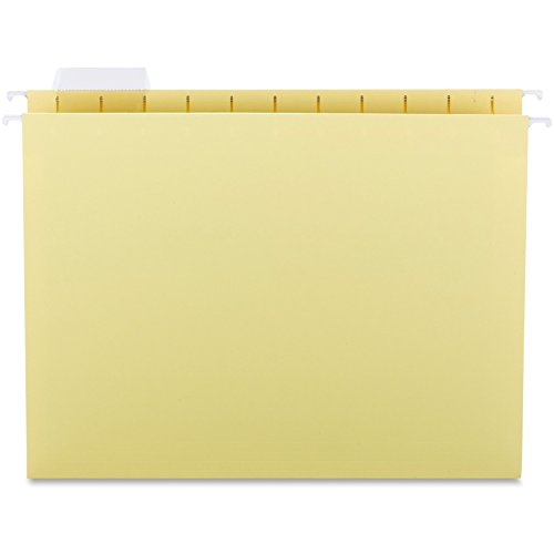 UNV14119 Hanging File Folders, 1/5 Tab, 11 Point Stock, Letter, Yellow, (11 Point Stock Letter)