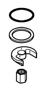 (Grohe 46 346 000 Mounting Kit for 33 939 Single Handle Pullout Kitchen Faucet, Starlight Chrome)