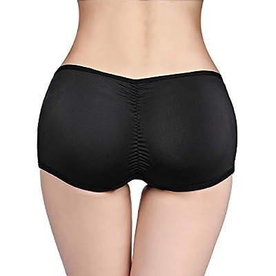 SKYFOXE Women's Butt Lifter Seamless Shapewear Shorts- Padded Underwear for Women- Fake Buttock Hip Lace Boyshort Panties