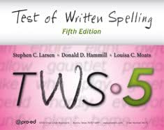 Tws-5: Test of Written Spelling– Complete Kit Fifth Edition