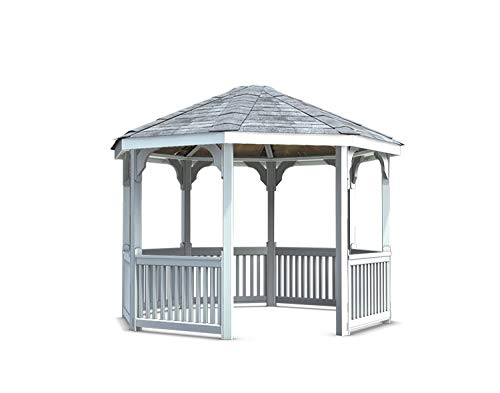 Fifthroom Vinyl Gazebo 12ft x 12ft - Durable Outdoor Furniture Backyard Seating, Exterior Structures, Home and Garden ()