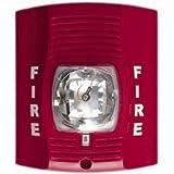 SecureGuard 30 Day Battery Powered 720P Fire Alarm Strobe Light Spy Camera Hidden Covert Nanny Cam Spy Gadget (Red)