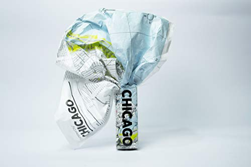 Crumpled City Map-Chicago