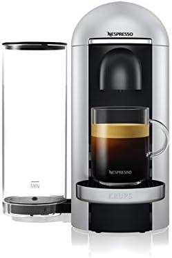 Krups Machine Expresso Nespresso Vertuo Plus Silver Machine à Café Cafetière Expresso 5 Tailles de Tasses 1.8L YY4152FD