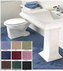 Very easy to set up. This bathroom carpeting can be cut to fit around your bathroom fixtures, just lay in place, no need for tacks or glue.
