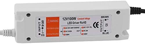 Baugger LEDストリップシーリングライト電球用DC12V 100W照明変圧器LEDドライバ