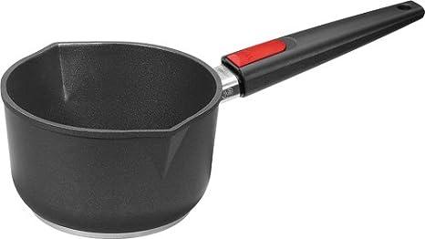 Woll 1118ILL - Cazo con tapa, titanio, 18 centímetros, 10 centímetros de alto, 2 litros con mango extraíble: Amazon.es: Hogar