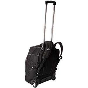 High Sierra Powerglide Wheeled Laptop Backpack, Black