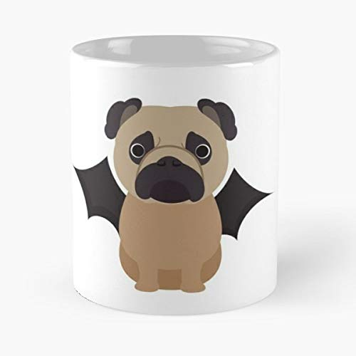 (Pug Halloween Costume Bat Outfit Trick Or Treat - Best Gift Coffee Mugs 11 Oz Father)