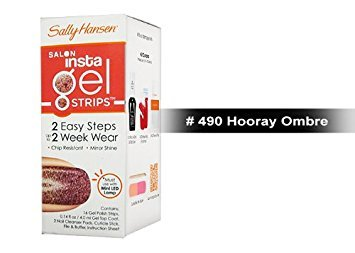 Sally Hansen Salon Insta Gel Strips 16 ct - 9 Colors to Choose (490 Hooray Ombre)- FREE SHIPPING on Orders $35 and Over