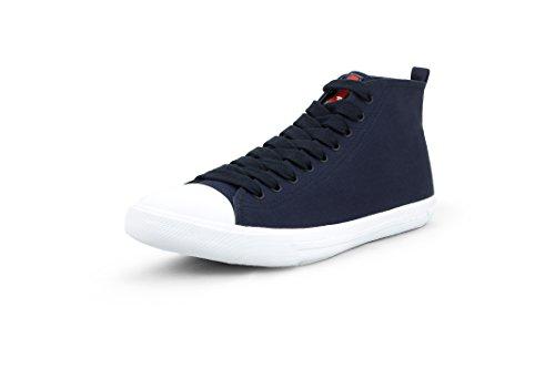 Prada Men's Gabardine Canvas High Top Sneaker, Navy (9 US / 8 ()