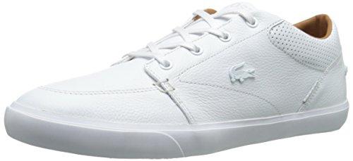 Lacoste Men's Bayliss Vulc PRM Shoe, White/White, 10 M US Lacoste White Shoes