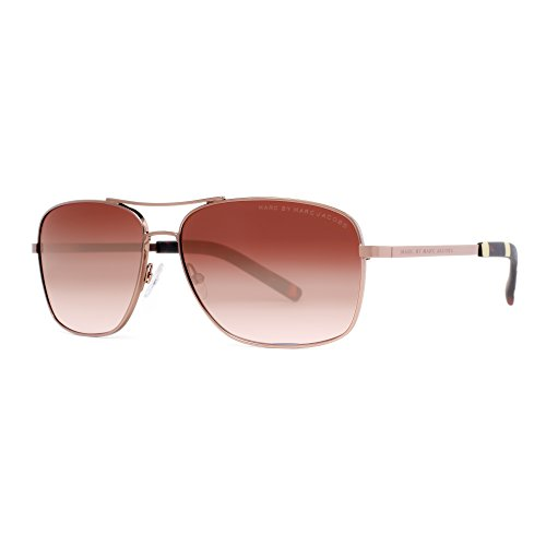 Marc by Marc Jacobs Women's MMJ342S Aviator Sunglasses, Shiny Brown, 59 - Jacob Aviators Marc