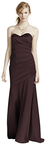 Long Strapless Stretch Satin Bridesmaid Dress Style F15586 – 2, Truffle