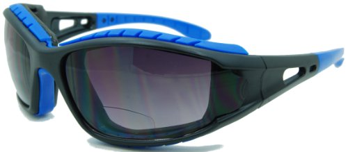 In Style Eyes Sportify, Nearly No Line Bifocal Sunglasses Rugged Eyewear for any Outdoor Activity/Blue/1.50 - Sunglasses Bifocal For Men No Line