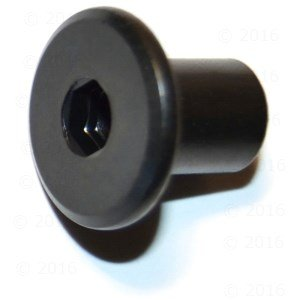 Hard-to-Find Fastener 014973445683 Joint Connector Cap, 1/4-20 x 1/2, Piece-30,Black