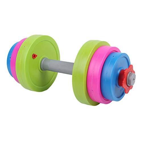 Verstelbare Kleurrijke Dumbbell Toy Pretend Workout Set Voor Kids Gym Exercise – Vul Met Strandzand Of Water