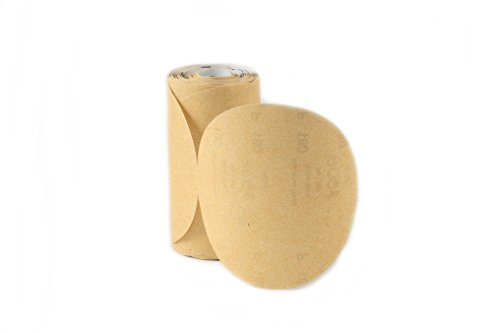 "UPC 756343773803, Karebac LR6C280 Premium Gold 6"" PSA 280 C-Weight Aluminium Oxide Stearated 100 Sanding Discs/Linkroll Grit Sanding Discs"