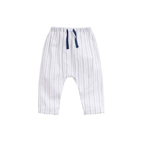 Marc janie Baby Toddler Boys' Striped Pants White 24 Months