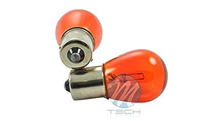 10 Bombillas (1 caja) Stop 1 Filamento 12V 21W BA15S S25 Ambar: Amazon.es: Coche y moto