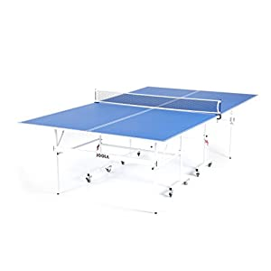 JOOLA Quadri – Indoor 15mm Ping Pong Table with Quick Clamp Ping Pong Net Set – Single Player Playback Mode – Regulation Size Table Tennis Table – Compact Storage Ping Pong Table