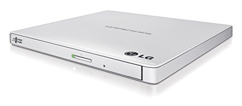 LG Electronics 8X USB 2.0 Super Multi Ultra Slim Portable DVD+/-RW External Drive with M-DISC Support, Retail (White) GP65NW60