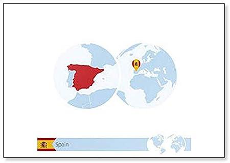 Imán para nevera con bandera y mapa regional de España en el mundo: Amazon.es: Hogar