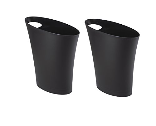 Umbra 02281000832 Skinny Sleek & Stylish Bathroom Trash, Small Garbage Can Wastebasket for Narrow Spaces at Home or Office, 2 Gallon Capacity, Surf Blue, Single Pack