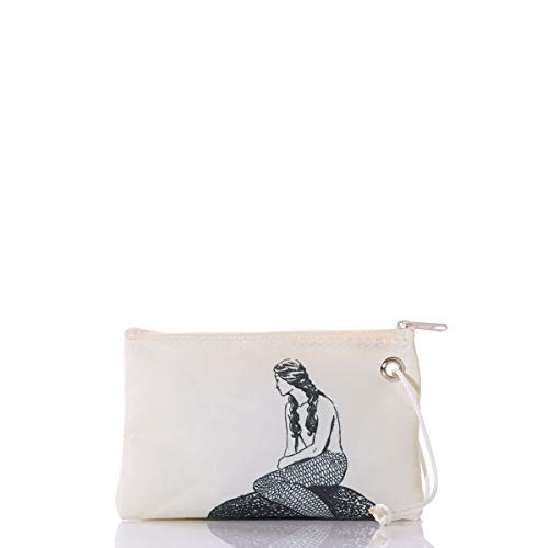 Sea Bags Recycled Sail Cloth Mermaid Wristlet made in New England