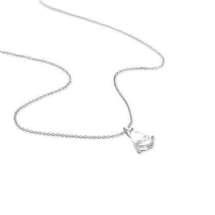HISTOIRE D'OR - Collier Or et Oxyde - Femme - Or blanc 375/1000 - Taille Unique