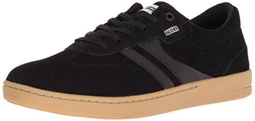 Globe Men's Empire Skate Shoe, Black/Gum, 7.5 M US