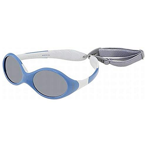Julbo Looping III Toddler Sunglasses, Spectron 4 Baby Lens, Blue/Grey Frame with Cord, 2-4 Years