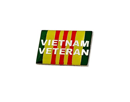 Vietnam Vet Hat Patch - Vietnam Veteran Ribbon Vets Military Lapel Hat Pins PPM7311 (2 Pins, Vietnam Veteran)