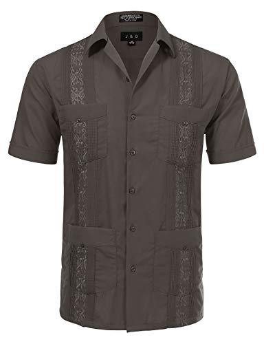 JD Apparel Men's Short Sleeve Cuban Guayabera Shirts20-20.5N, used for sale  Delivered anywhere in USA
