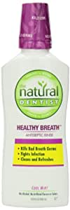 The Natural Dentist Healthy Breath Antiseptic Mouthwash with no alcohol